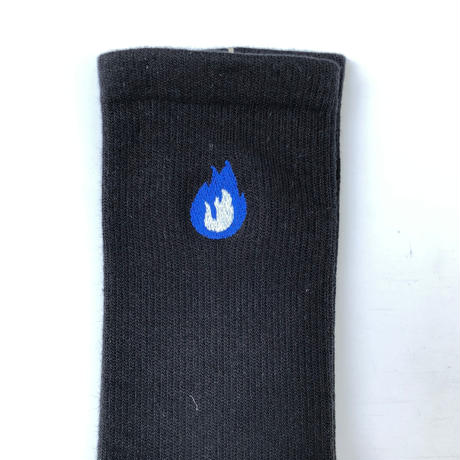 "FORTY PERCENT AGAINST RIGHTS / ""BURN"" SOCKS (blue)"