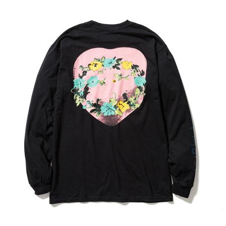 """F-LAGSTUF-F / """" Circle Flower """" L/S Tee (black)"""