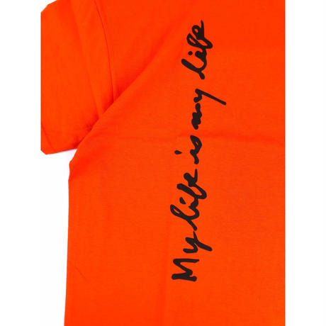 FORTY PERCENT AGAINST RIGHTS / MY LIFE SS TEE 07(orange)