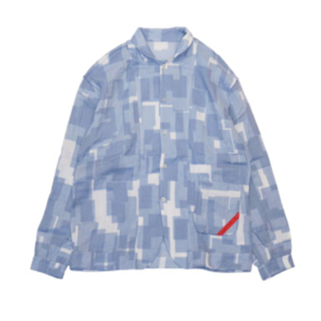PHINGERIN / NIGHT SHIRT GAUZE OVERLAYED SQUARES