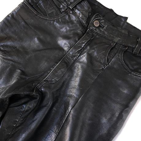 """Maison Margiela """" Artisanal """"⓪⑩  Leather Race up Pants  (Hi brand hurugi)"""