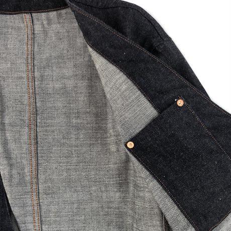 "THREE FACE for CSF / ""crosby"" Denim no-collar jacket (デニムネクタイ付属)"