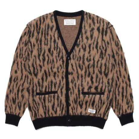 WACKO MARIA / Leopard mohair cardigan (camel)