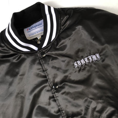 "WACKO MARIA × SUBLIME  ""Varsity jacket "" (black )"