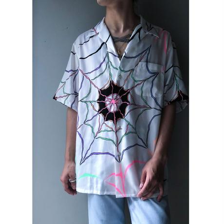 "WACKO MARIA x WOLF'S HEAD ""Hawaiian shirt"" (white)"