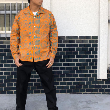 "F-LAGSTUF-F / ""MASA"" L/S SHIRTS (orange)"