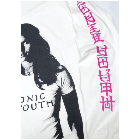 """F-LAGSTUF-F × Sonic Youth """"L/S Tee1""""(white)"""
