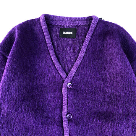 MASSES / mohair cardigan (purple)