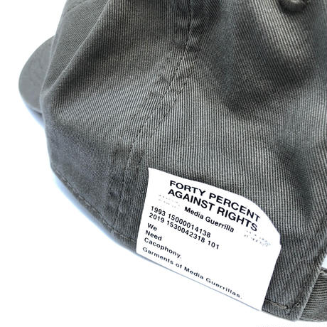 "FORTY PERCENT AGAINST RIGHTS ""BANNER 6 PANEL CAP"" (gray)"