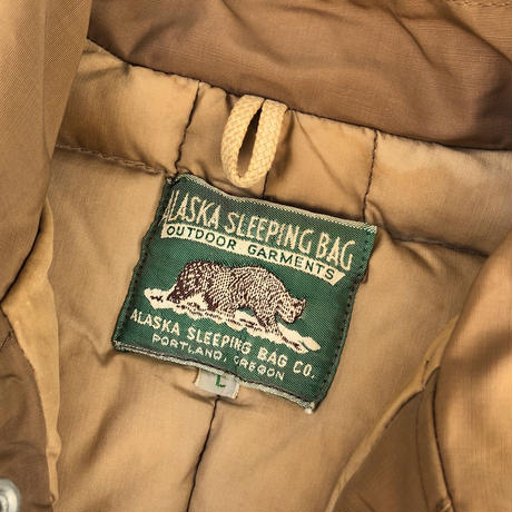 ALASKA SLEEPING BAG ダウンJKT (spice)