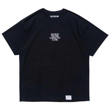 "FORTY PERCENT AGAINST RIGHTS "" NO WAY SS TEE  "" (black)"