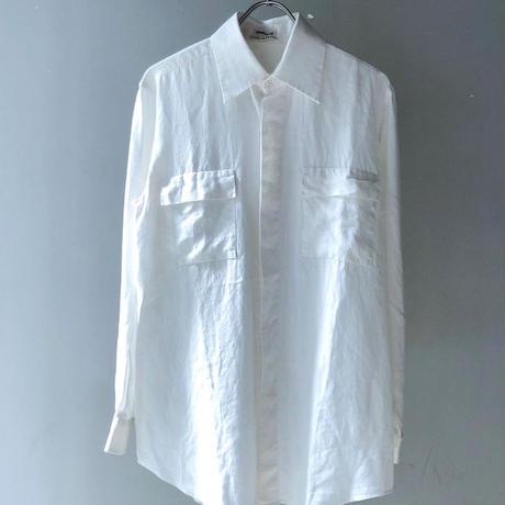 "HERMES (マルジェラ期)  by Martin Margiela"" Linen L/S shirt ""(Hi brand hurugi)"