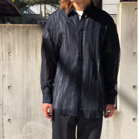 "90's GIANNI VERSACE ""B.D. linen  L/S  shirt"" (Hi brand hurugi)"