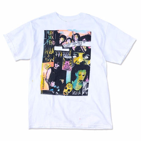 "90's ALIEN SEX FIEND ""Otis and biscuits"" 手刷り Tee  (spice)"