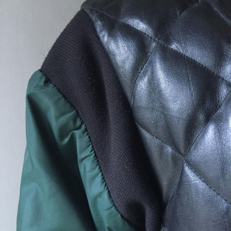 "vintage "" eddie bouer"" leather×Down jacket (USED)"