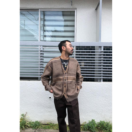 F-LAGSTUF-F / MOHAIR CHECK CARDIGAN (beige)