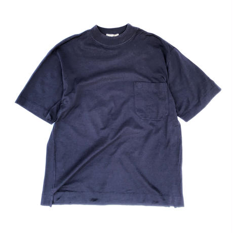 HERMES / High Neck Pocket T-shirts (navy) (spice)