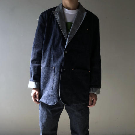 "THREE FACE for CSF / ""crosby"" Denim tailored jacket (デニムネクタイ付属)"