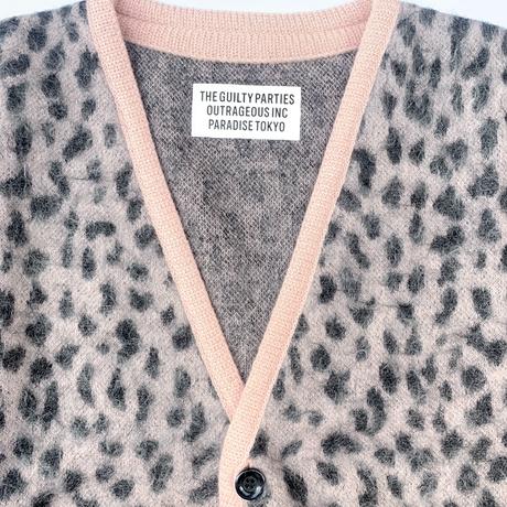 WACKO MARIA   / Leopard Mohair Cardigan (pink)
