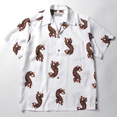 WACKO MARIA  /  hawaiian shirt (type-18)  (white)