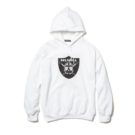"Delivery Hells / ""Team"" HOODIE (white)"