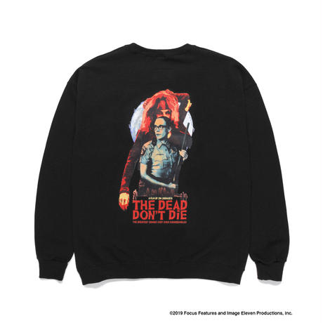 "WACKO MARIA ""JIM JARMUSCH"" 「THE DEAD DON'T DIE」CREW NECK SWEAT SHIRT ( TYPE-4)(black)"