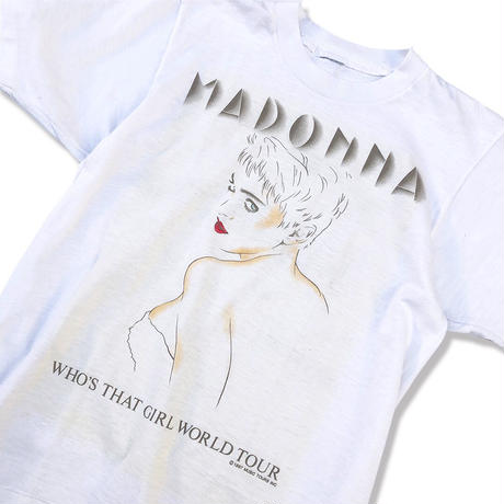 "80's MADONNA ""WHO'S THAT GIRL WORLD TOUR"" Tee  (spice)"