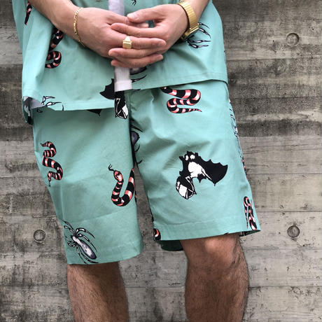 "【offshore TOKYO  別注】F-LAGSTUF-F ""TATTOO"" Shorts  (green )"