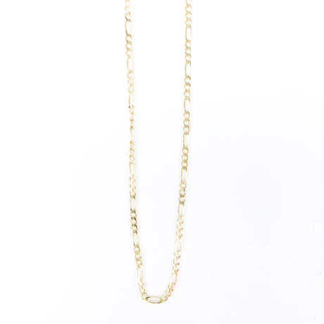 "14K GOLD NECKLACE ""Figaro"" (50cm)#11"