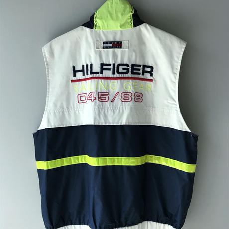 "90's ""TOMMY HILFIGER""/  sailing gear  vest (USED)"