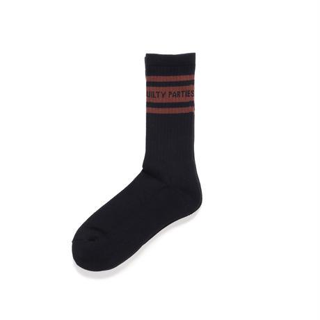 WACKO MARIA / skater socks (type-3) (black-brown)