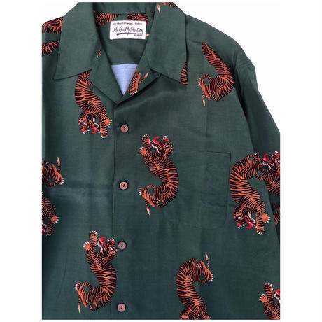 WACKO MARIA  HAWAIIAN SHIRT S/S ( TYPE-2 ) (green)