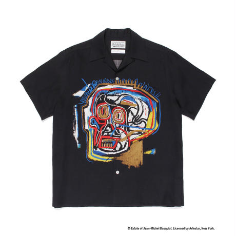 "WACKO MARIA × JEAN-MICHEL BASQUIAT /  ""Hawaiian shirt S/S  (type-1)"