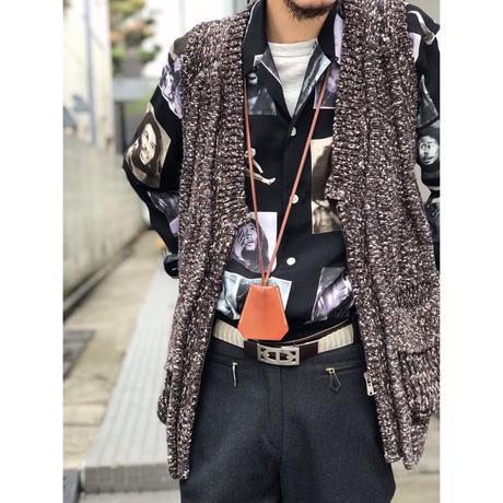 YvesSaintLaurent  / No Sleeve Bulky Knit Jacket (Hi brand hurugi)