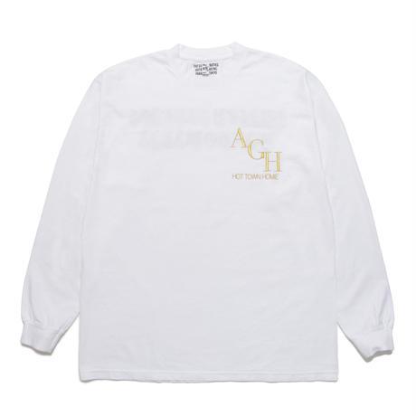 WACKO MARIA x BUDSPOOL / HEAVY WEIGHT LONG SLEEVE T-SHIRT(white)
