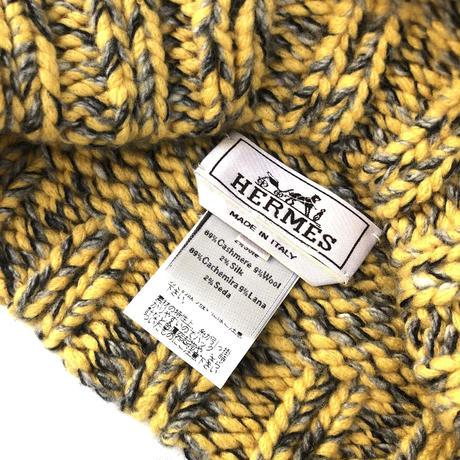"HERMES ""Cashmere Knit cap"" (Hi brand hurugi)"