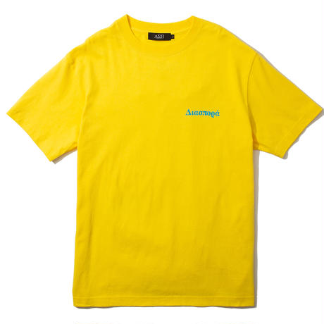 "Diaspora skateboards  / ""Fan Magic Circle"" Tee (yellow)"