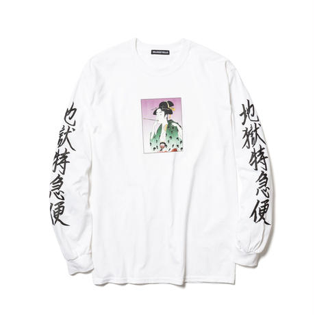 "Delivery Hells / ""地獄特急便"" L/S Tee (white)"