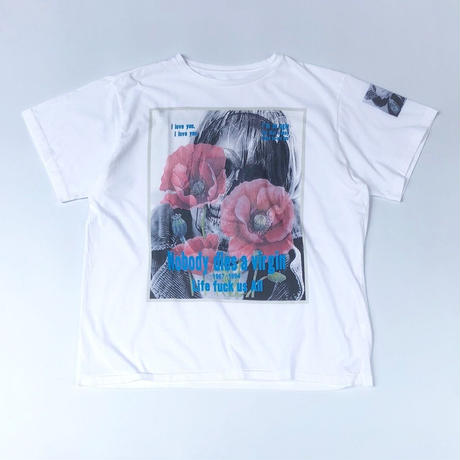 THREE FACE / SS crew neck T-shirts -TEE12-  (white)