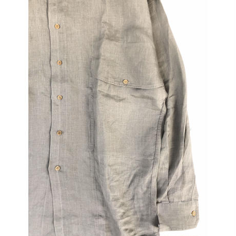 "80's GIANNI VERSACE "" linen big pocket L/S  shirt"" (Hi brand hurugi)"