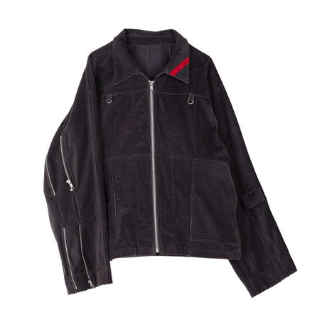 PHINGERIN / ZIP RUN JACKET SOFT-CORD (charcoal)
