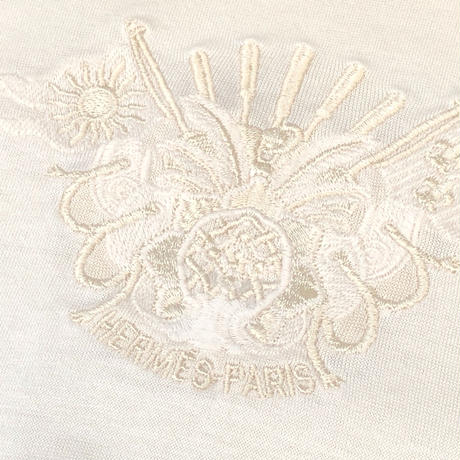 HERMES /  Embroidery S/S T-shirt (natural) (spice)