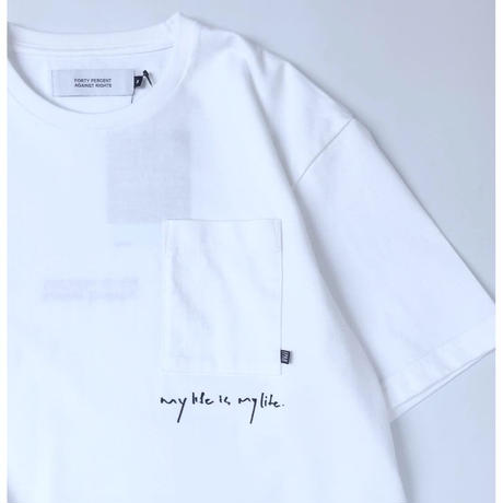 """FORTY PERCENT AGAINST RIGHTS / """"MY LIFE SKETCH. T-shirt"""""""