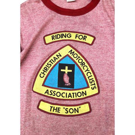 "80's "" CHRISTIAN MOTORCYCLISTS ASSOCIATION Tee""  (spice) #A1"