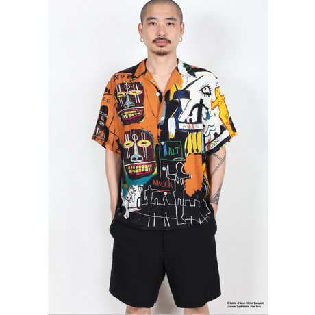 "WACKO MARIA × JEAN-MICHEL BASQUIAT /  ""Hawaiian shirt S/S  (type-4)"