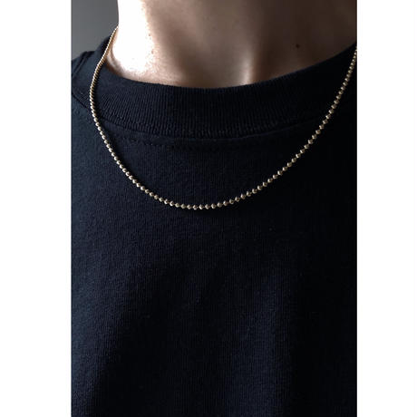 "14K GOLD NECKLACE ""Cutting Ball Chain"" (55cm)"