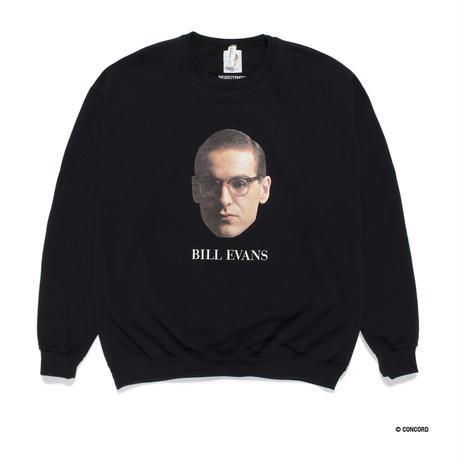 "WACKO MARIA / BILL EVANS ""Crew neck sweat shirt"" (black)"