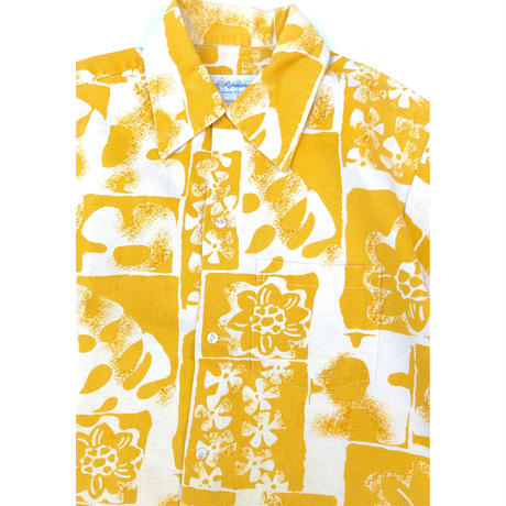 """70's CATALINA """"Flower Print Shirts""""   (spice) #A1"""