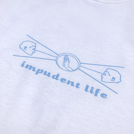 """IMPUDENT LIFE / """" Directry S/S """" TEE (white)"""