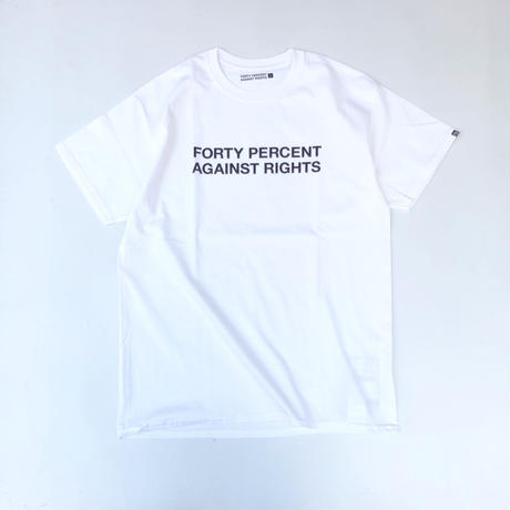 "FORTY PERCENT AGAINST RIGHTS / ""SINCE"" SS Tee 01 (white)"